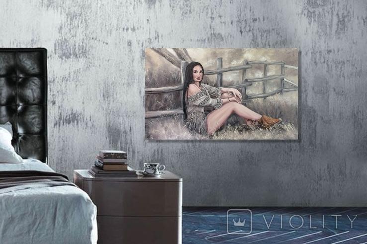 """Картина, """"В стиле Бохо"""", 100х60 см. Живопись на холсте, фото №10"""