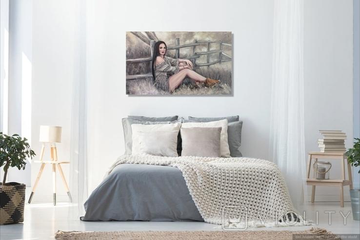 """Картина, """"В стиле Бохо"""", 100х60 см. Живопись на холсте, фото №11"""