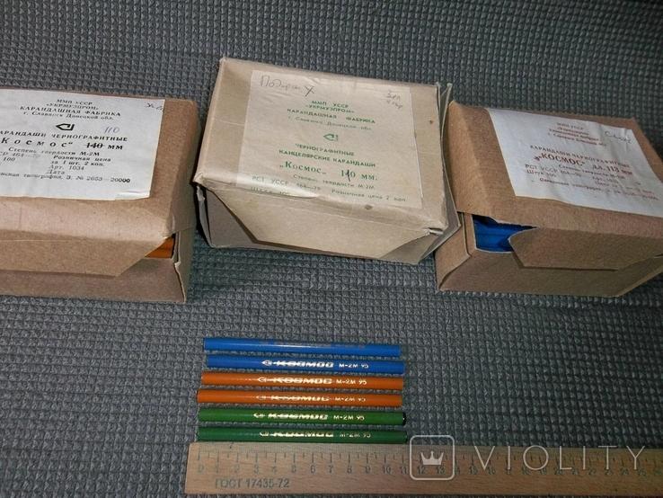 """Карандаши чернографитные.""""Космос"""".113 мм.М-2М.300 штук.3 упаковки., фото №7"""