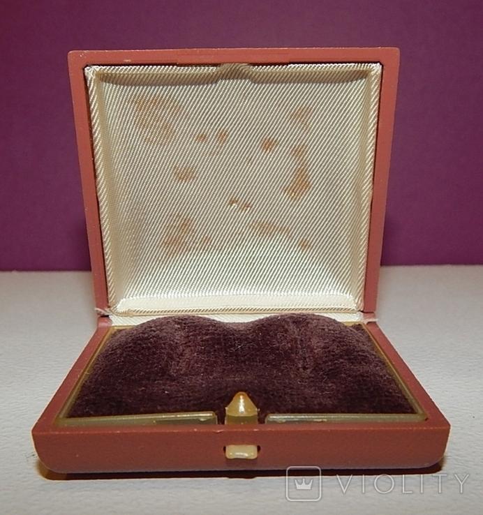 Старая коробочка из-под серёжек СССР, фото №4