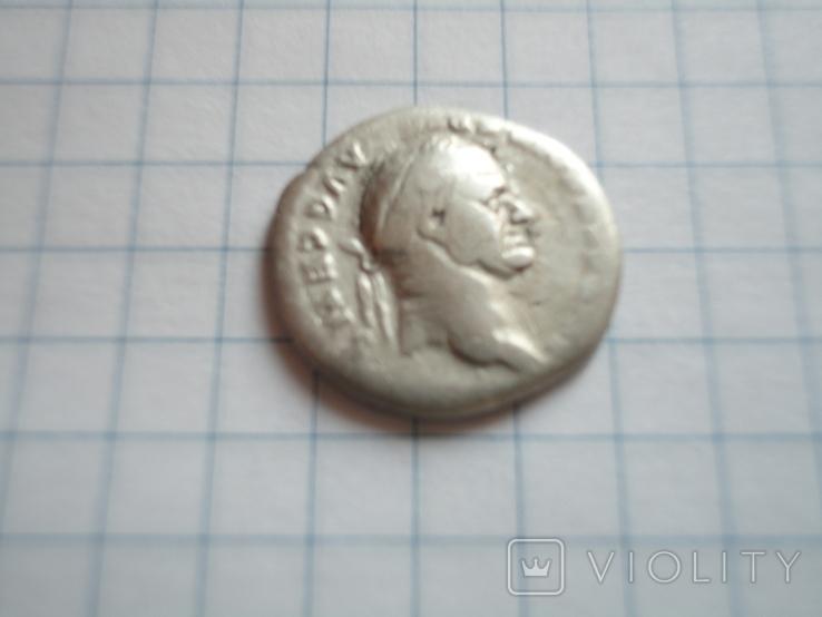 Денарий Веспасиана 73 г н э, фото №2