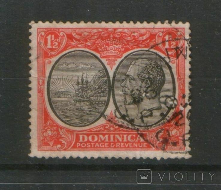 Британские колонии. 1923. Доминика, парусник