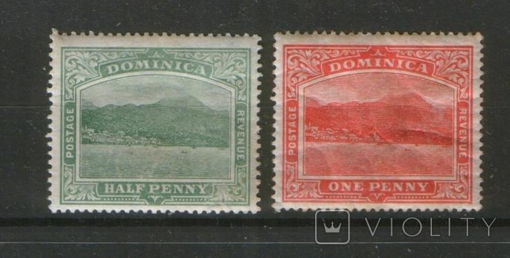 Британские колонии. 1908-16. Доминика, виды