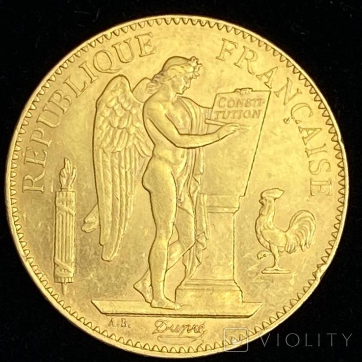 """100 франков. 1886. """"Золотой ангел"""" Франция (золото 900, вес 32,25 г), фото №3"""