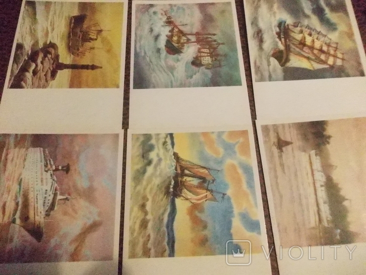 Из истории отечественного флота.16 открыток., фото №4