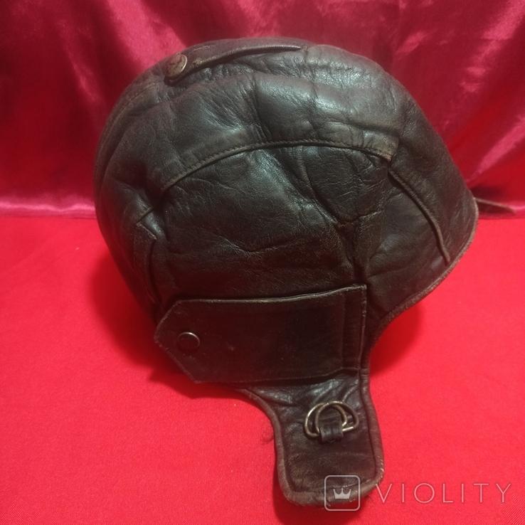 Шлем лётный зимний с наушниками , микрофон, фонарь., фото №4