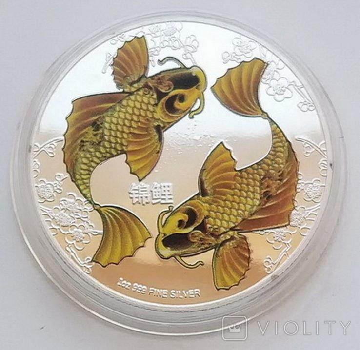 Фэн-Шуй. Карпы Кои, Ниуэ 2 доллара 2012 г. (копия), фото №3
