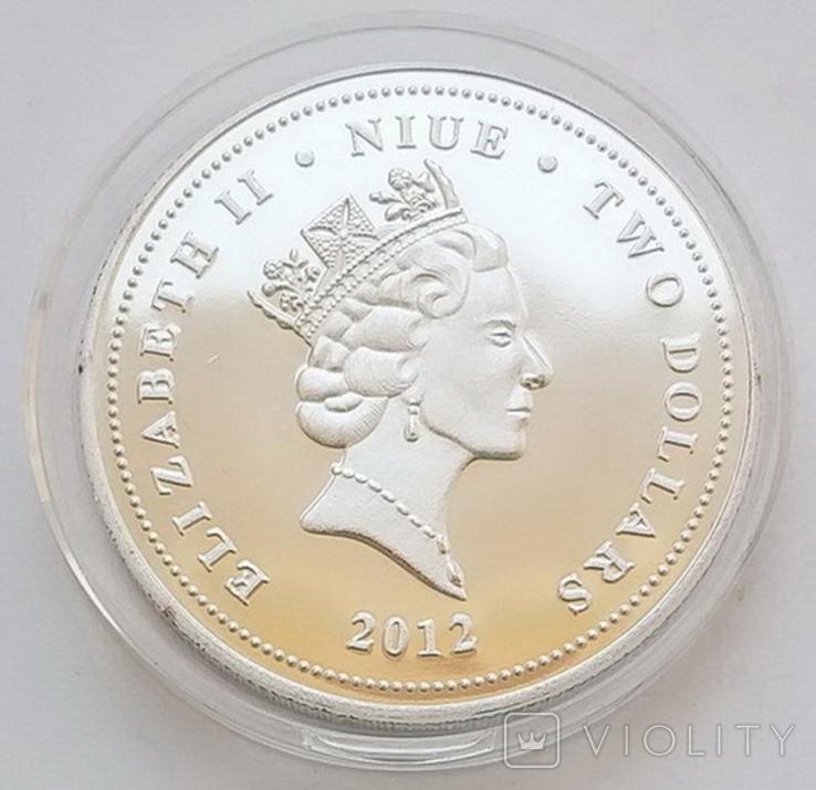 Фэн-Шуй. Карпы Кои, Ниуэ 2 доллара 2012 г. (копия), фото №4