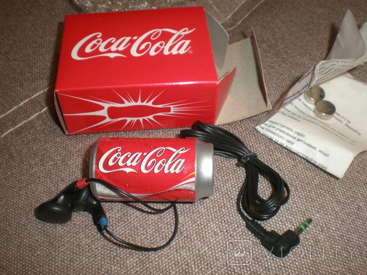 Рекламный радиоприёмник Cosa Cola новый в коробке документы, фото №2