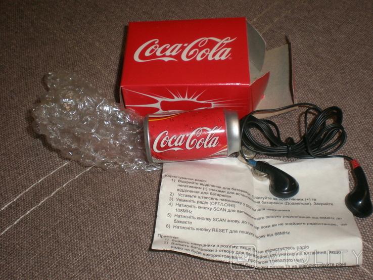 Рекламный радиоприёмник Cosa Cola новый в коробке документы, фото №3