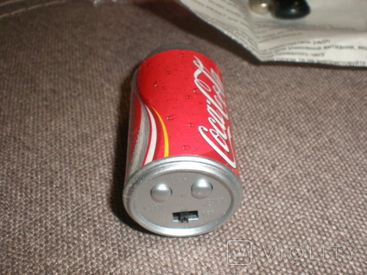 Рекламный радиоприёмник Cosa Cola новый в коробке документы, фото №4
