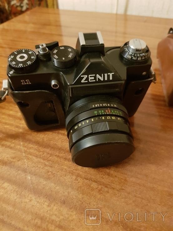 Фотоаппарат ZENIT 11 с объективом Helios + дополнительный объектив+вспышка+чехол, фото №5