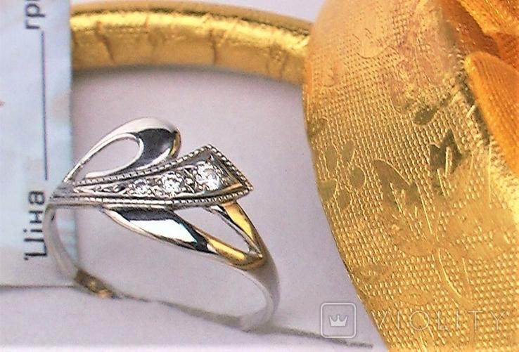 Кольцо перстень серебро 925 проба 1,02 грамма размер 16, фото №2