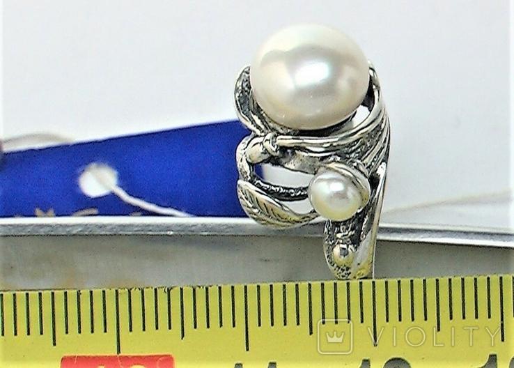Кольцо перстень серебро 925 проба 5.12 грамма размер 17.5, фото №6
