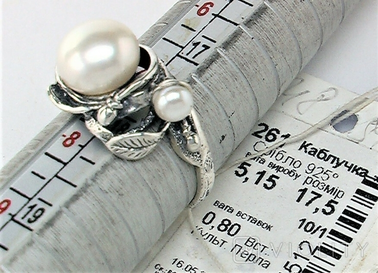 Кольцо перстень серебро 925 проба 5.12 грамма размер 17.5, фото №7