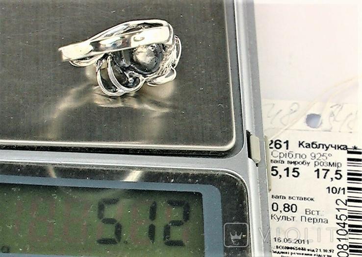 Кольцо перстень серебро 925 проба 5.12 грамма размер 17.5, фото №8