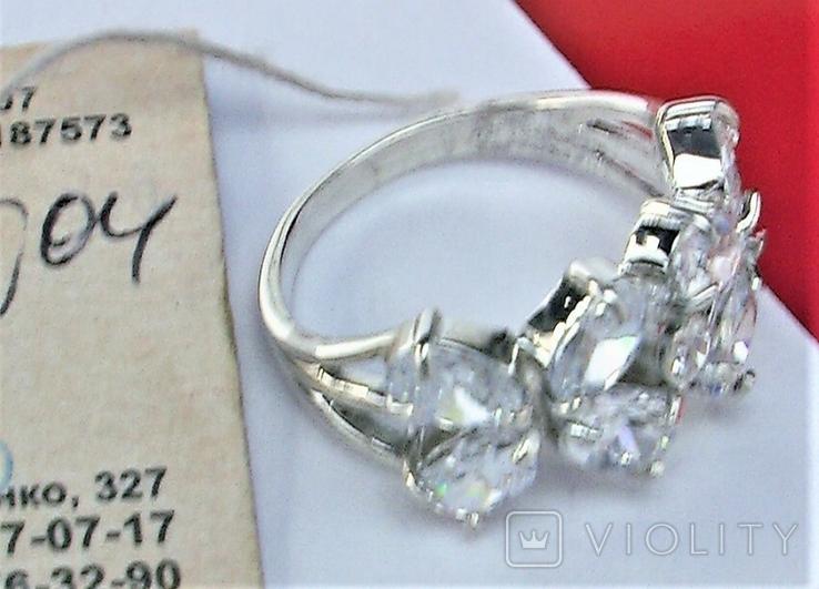 Кольцо перстень серебро 925 проба 4.93 грамма размер 18, фото №4