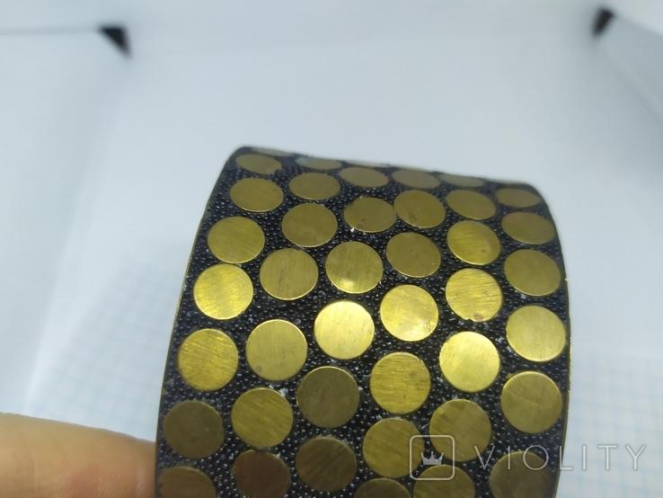 Широкий латунный браслет. (3), фото №4