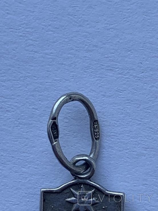Ладанка серебряная, 925 пр, фото №4