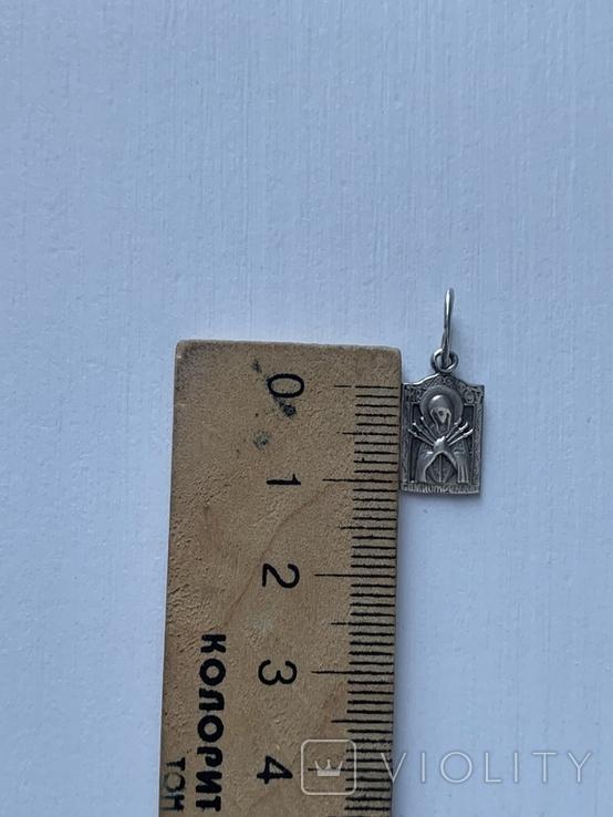 Ладанка серебряная, 925 пр, фото №5