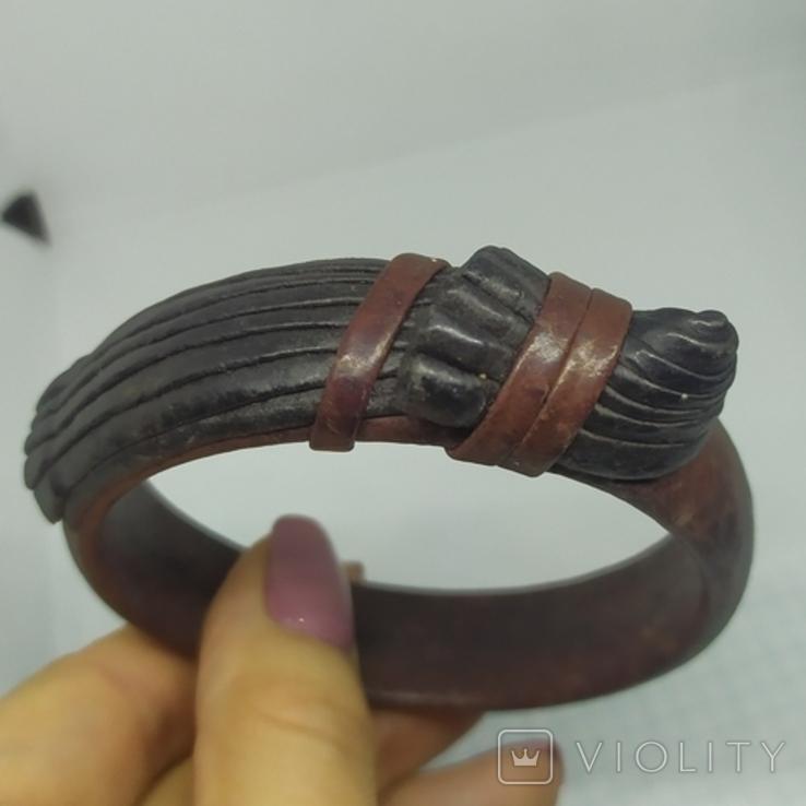 Кожаный браслет на жесткой основе (3), фото №10