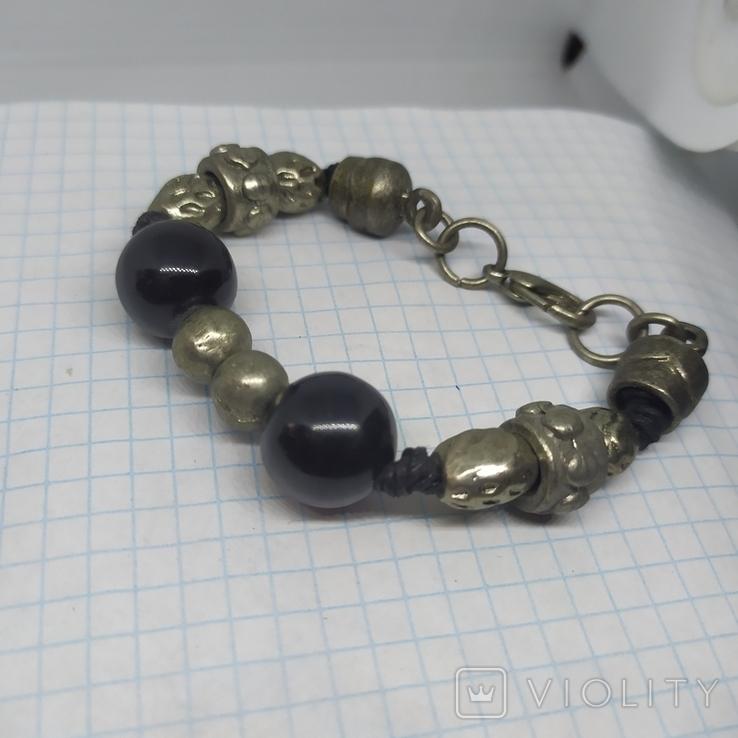 Браслет с металлическими бусинами (3), фото №7