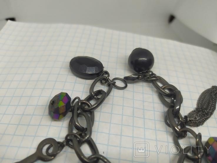 Браслет из темного металла с подвесками (3), фото №5