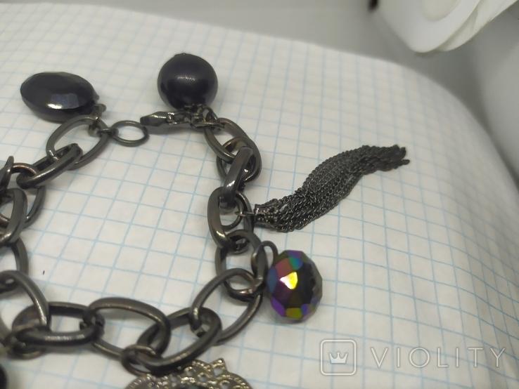 Браслет из темного металла с подвесками (3), фото №6