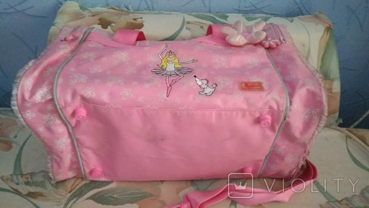 Спортивная сумка для девочка 40*22*22, фото №3