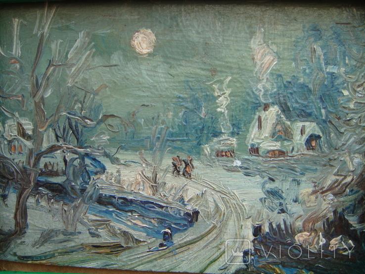 Зимний день импрессионизм  15*12, фото №2