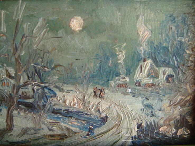 Зимний день импрессионизм  15*12, фото №3