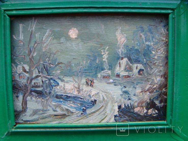 Зимний день импрессионизм  15*12, фото №4