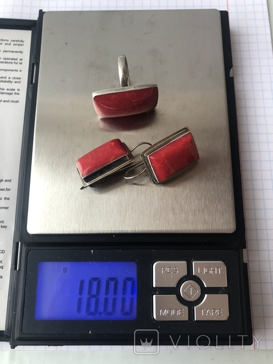 Гарнитур. Набор серьги и кольцо. Серебро 925 проба., фото №10
