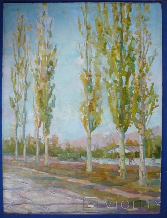 Костюченко А.П.(1930-2006) Тополя. 1965г., фото №3