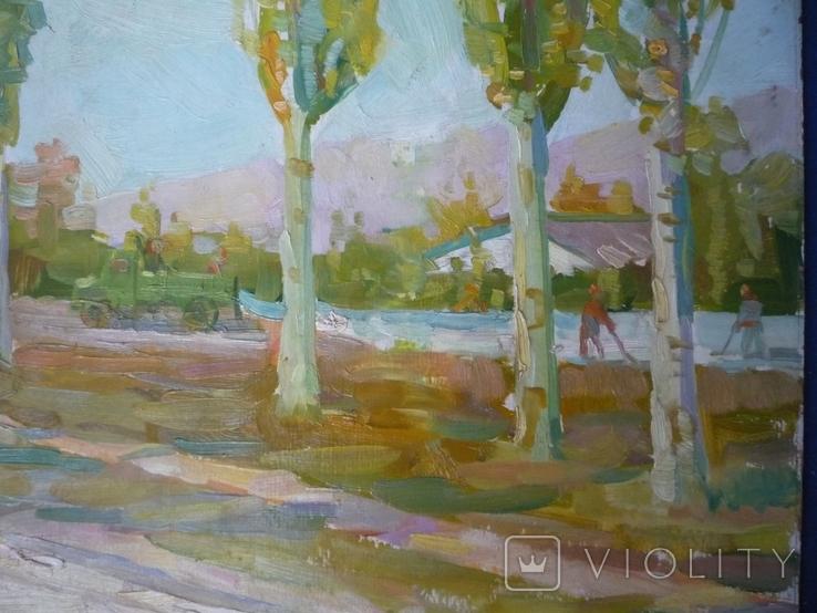 Костюченко А.П.(1930-2006) Тополя. 1965г., фото №5