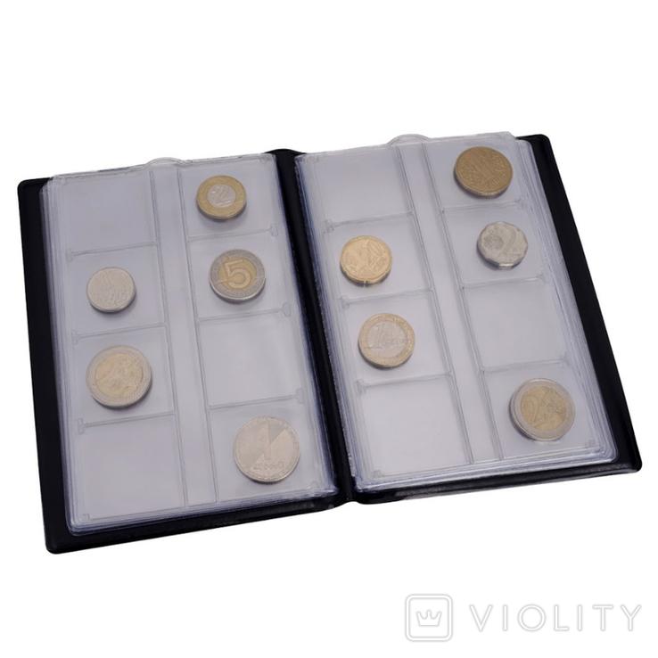 Карманный альбом для монет до 30 мм на 96 монет Violity, фото №3