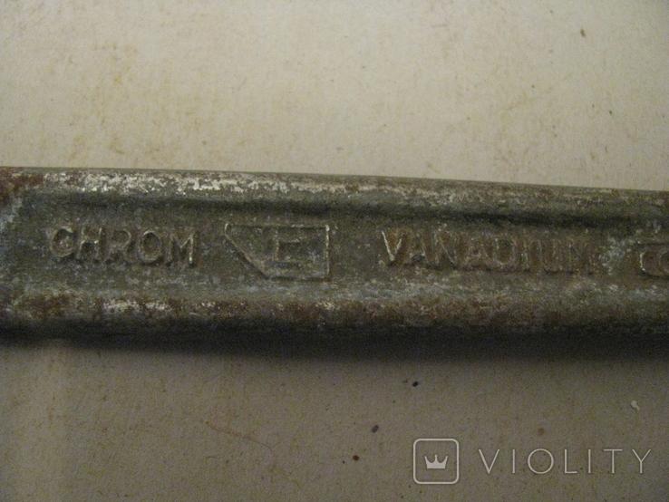 Гаечный ключ № 5 -  хромованадий - СССР - экспортный - 22 х 19 - разборка гаража., фото №3