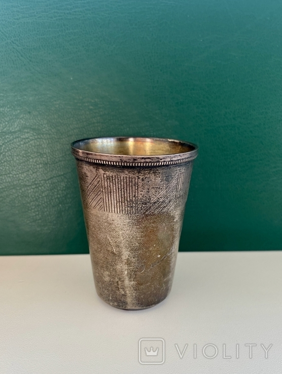Стопка, серебро 875 пробы., фото №3