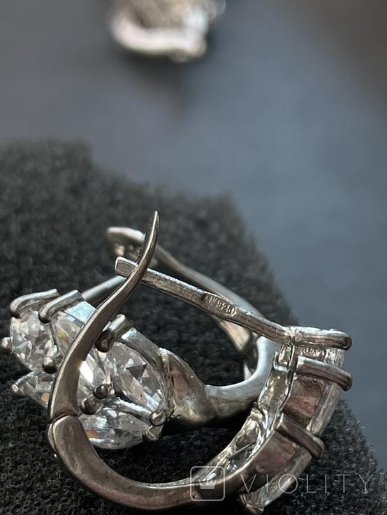 Серебряные сережки, фото №7