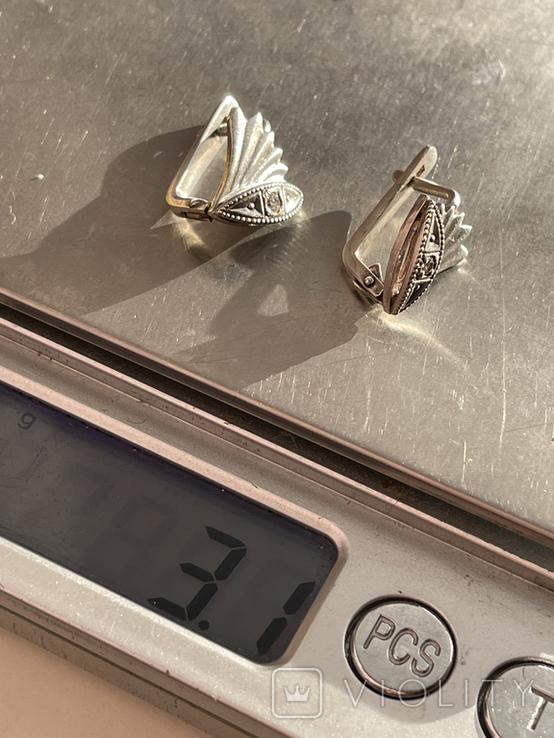 Серебряные сережки, фото №8
