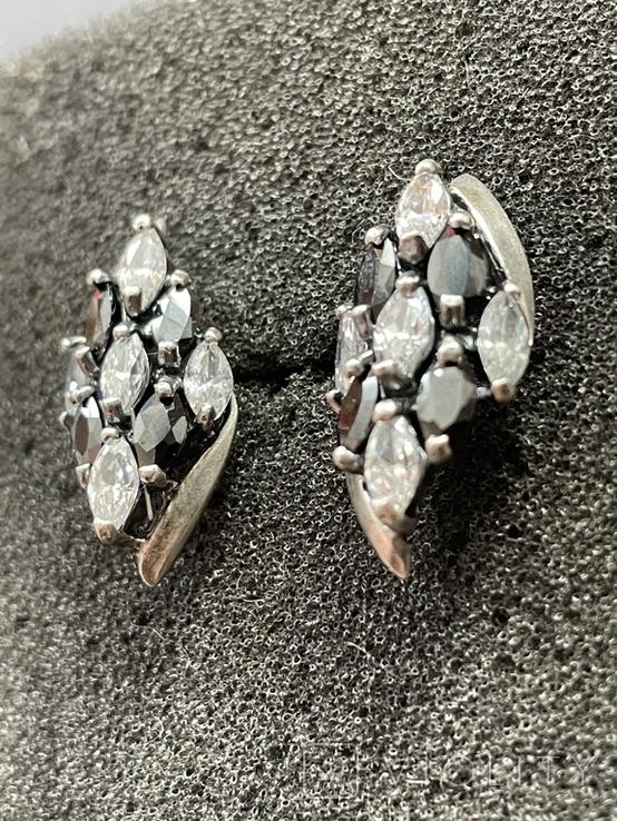 Серебряные сережки, фото №4