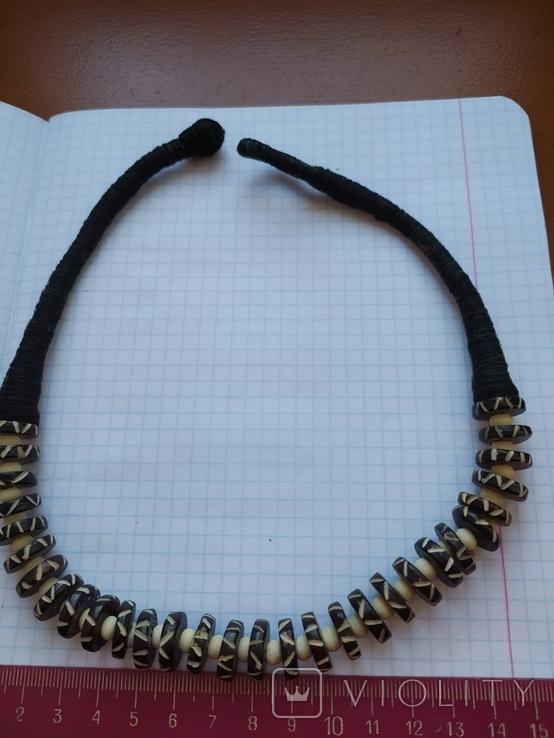 Ожерелье в этностиле из кости, фото №5