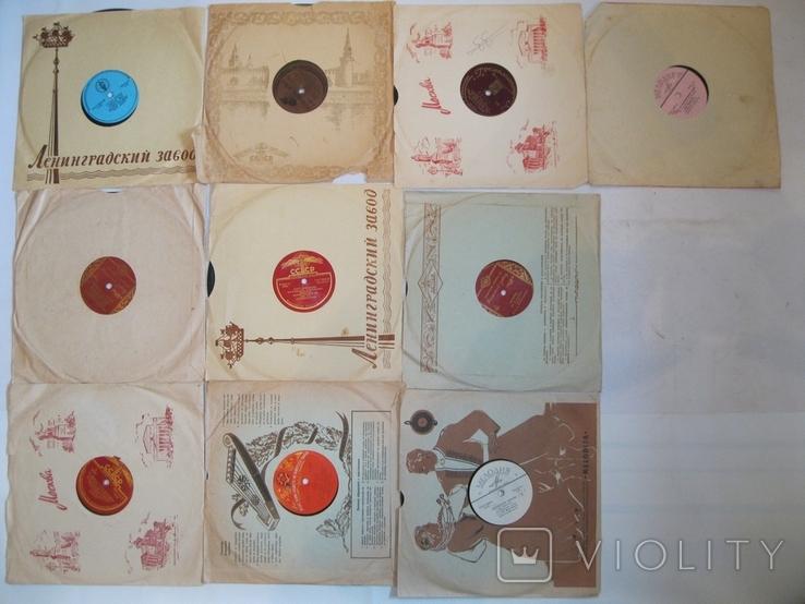 Пластинки патефонные 78 об. 10шт., фото №2