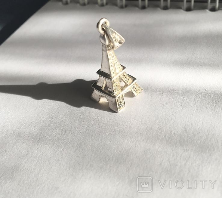 Серебрянный кулон с камнями, фото №6