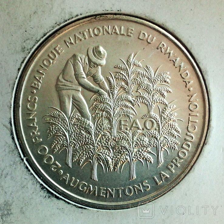Руанда 200 франков 1972 г. - 10 лет Независимости, фото №3