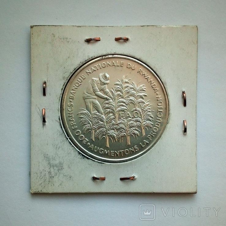 Руанда 200 франков 1972 г. - 10 лет Независимости, фото №9