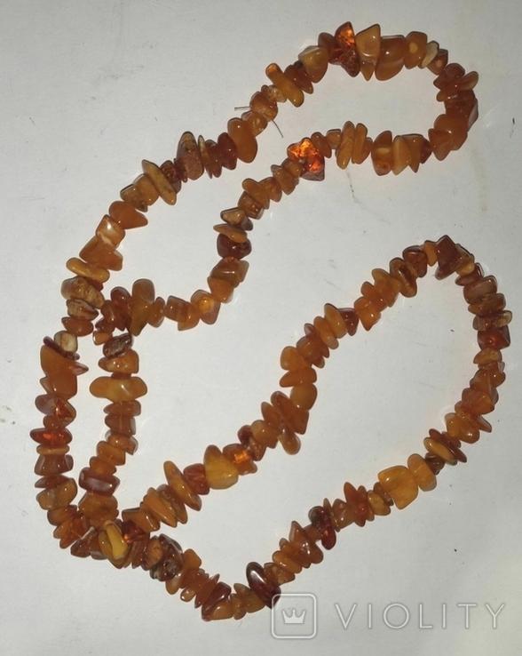 Бусы, ожерелье Янтарь, вес 58 г, фото №7
