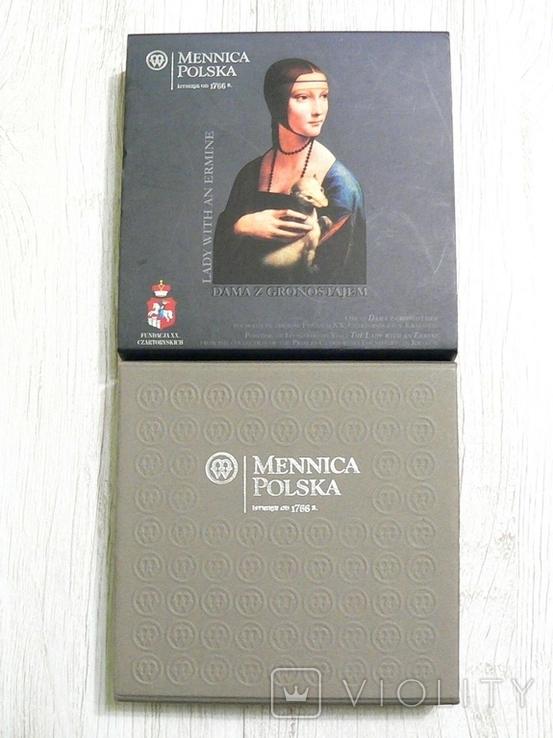 ШЕДЕВРЫ РЕНЕССАНСА - Леонардо Да Винчи «Дама с горностаем» - серебро - ПОЛНЫЙ КОМПЛЕКТ, фото №8