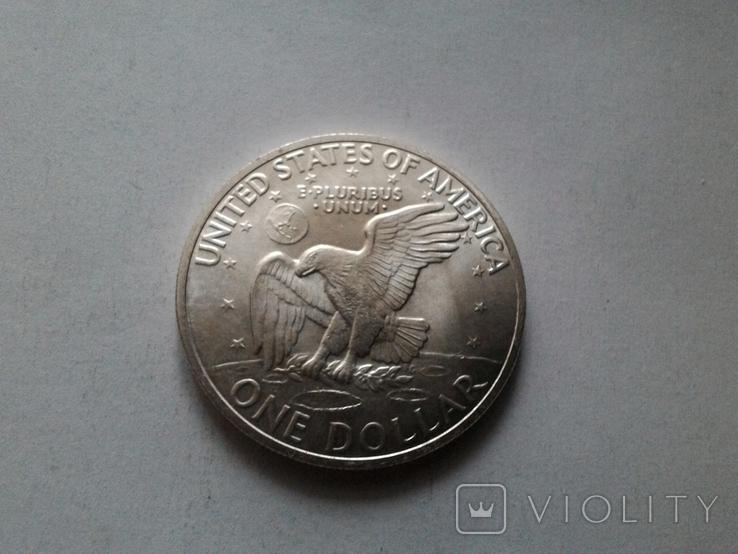 США 1 доллар 1971 S Эйзенхауэр / серебро, фото №5