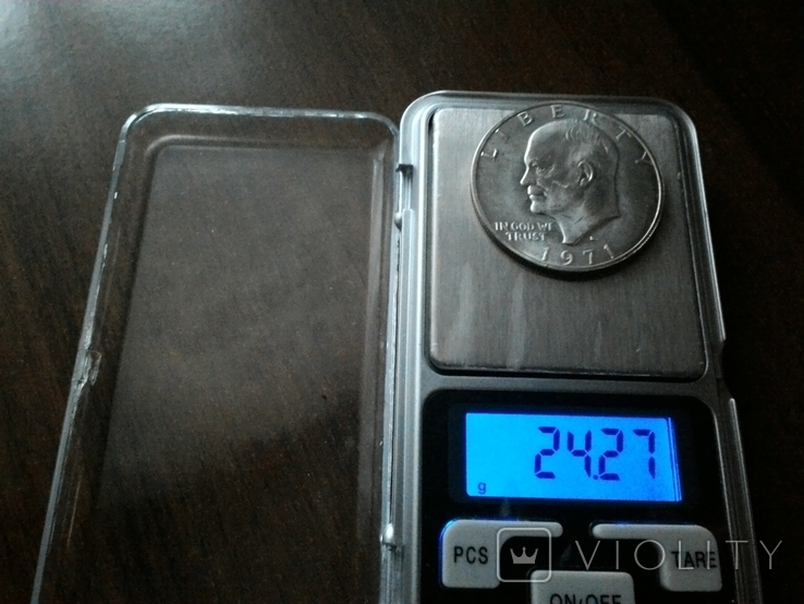 США 1 доллар 1971 S Эйзенхауэр / серебро, фото №8